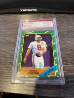 1986 Topps Football Steve Young ROOKIE RC #374 PSA 8 49ers HOF