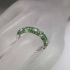 Ring mit 1,30ct Tsavorit und 0,25ct Brillant TW-vs 750/18K Weißgold UVP. 2737,-€