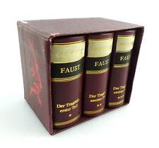 #e3168 3 Minibücher - Goethe Faust - Der Tragödie - erster bis dritter Teil