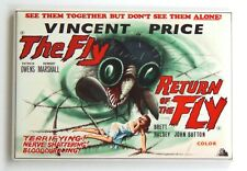 The Fly Double Feature Fridge Magnet movie poster