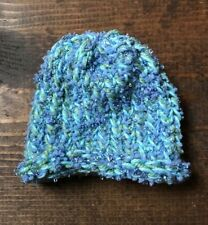 Handmade Knitted Baby Hat-Infant-Newborn-Mermaid-Glitter-Rolled-Thick-Soft-Warm