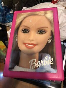 "Pink Barbie Doll Storage Case Barbie Trunk Approx6""x9""x13"" Box"