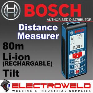 BOSCH 80m DISTANCE MEASURER LASER RANGEFINDER AREA MEASURER INCLINOMETER GLM 80