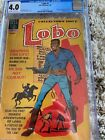 Lobo 1 CGC 4.0 1st African American character to headline own title! Dell 1965
