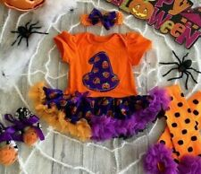 HALLOWEEN WITCH TUTU ROMPER, Baby Fancy Dress Party Costume Plain Witch Set
