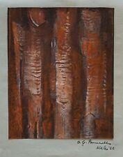 MIRKO BASALDELLA pastello ceroso a olio su carta, 1966 I TETRARCHI (46)