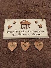 New Baby Mum To Be Baby Shower Twins Gift Adoption Nursery Personalised Plaque