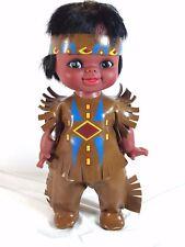 "Vintage Reliable NATIVE AMERICAN INDIAN Vinyl Doll Canada - 11"" Original Clothes"