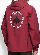 Thrasher Magazine NEW OATH COACH Windbreaker Jacket Men's Size Large Cardinal