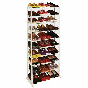 10 Tier Narrow Space Shoe Rack Storage Tidy Organiser Porch Utility Room Lobby A
