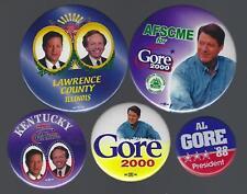 2000 AL GORE & J. LIEBERMAN POLITICAL CAMPAIGN BUTTON GROUP B