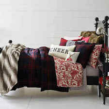 """Cozy Shop Merry Plaid Standard Pillow Sham in Red/Black New 20"""" x 26"""""""