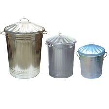More details for galvanised metal bin home garden rubbish waste dustbin feed storage 15l 60l 90l