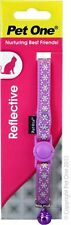 Pet One Collar Cat/Kitten Nylon Reflective Purple with bell 10mm - Aussie Seller