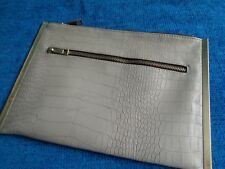 ATMOSPHERE Clutch Bag Beige / gold trim Size 11 x 71/2 inches