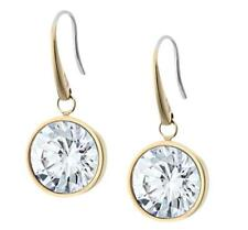"Michael Kors Mkj5506710 Brilliance Crystal Gold Tone 1"" Drop Earrings"