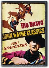 Rio Bravo / The Searchers DVD New John Wayne Dean Martin Jeffrey Hunter
