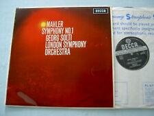 SXL 6113 WBg ED2 MAHLER Symphony No. 1 Solti vinyl LP