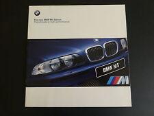 BMW M5 SALOON 1999  SALES BROCHURE