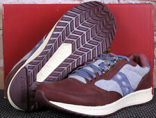 New Saucony Freedom Runner Brown Grey Blue Leather Limited Edition Shoes Size 10