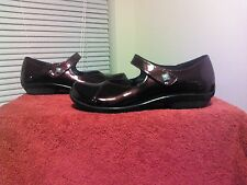 NEW DANSKO OPAL CASUAL HOOK & LOOP MARY JANE CHERRY PATENT size 37 clogs