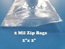 2x2 Clear 2 Mil Plastic Zip Seal Bag Reclosable Top Lock 2mil Small Baggies