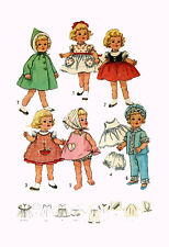 "Chatty Cathy by Mattel 20"" tall 11"" waist Vintage Doll Clothing PATTERN 4652"
