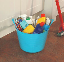 Flexi Plastic Utility Cleaning Garden DIY Toy Carry Storage Tubs Basket Handles