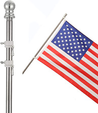 """Cocohome Flag Pole - 7Ft Spinning Flagpole Kit For House Garden Yard, 1"""" Stainle"""