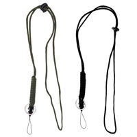 Braided Nylon Neck Lanyard with Key Ring Keychain for Keys Survival Paracord