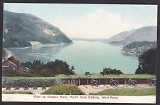 Circa1906 Vintage Postcard View Up Hudson River North From BATTERY WEST POINT NY