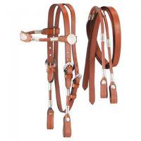 Tough-1 Light Chestnut Leather MINI PONY Sized Poco Bridle w/reins  42-7640