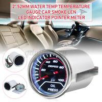 2'' 52mm Auto Car Digital LED Oil Press Pressure Gauge Pointer Meter Sensor   >