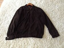 Brooks Brothers Leather Coat Men's XL Brown Suede Leather Jacket Extra Large
