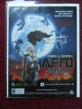 2009 Print Ad AFRO SAMURAI Video Game for Playstation or XBOX