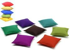 "100% COTTON PLAIN DYED CUSHION COVERS IN SIZES 18"" X 18"" MANY HOT COLOURS"