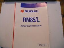 Suzuki Owners Service Manual 2006 RM85 RM85L RM85 L