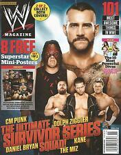 NOVEMBER 2012 WWE MAGAZINE CM PUNK KANE DOLPH ZIGGLER DANIEL BRYAN WRESTLING MIZ