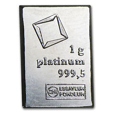 1 gram Platinum Bar - Secondary Market (.999+ Fine) - SKU #24518