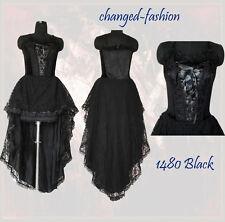 Corset Wedding Dress Gothic Black Halloween Custom Made US Size 20-26 1480