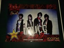 MUCC Poster Rock and Roll Concert Tour Souvenir. Rockstar Energy Taste Of Chaos