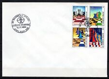 Yugoslavia - 1990 Chess olympiade - Mi. 2443-46 on clean cover (a)