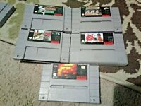 Super nintendo snes games lot