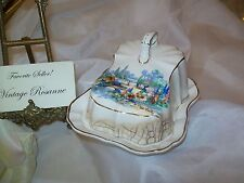Lancaster & Sandland Ware In an Old World Garden Butter Cheese Covered Dish 2 pc