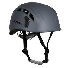 Unisex Safety Helmet Rock Tree Climbing Caving   Head Protector Gray