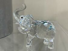 Swarovski Crystal Figurine Elephant with trunk up retired in Box 131371 Read