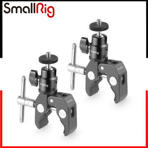 """SmallRig Super Clamp Mount mit 1/4 """"Kugelkopfhalterung 1124 (2 Pcs/Pack)"""