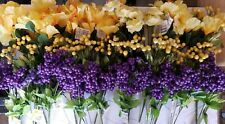 Mixed Lot Artificial Silk Flowers 23 Bunches Stem WEDDING DECOR Hibiscus