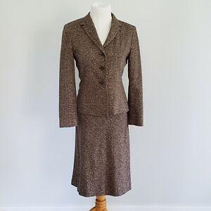 Vintage 90s Womens Petite Sophisticate Wool Skirt Suit