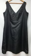 Simple Silhouettes Womens Size 20 Dress Black Silk